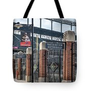 Watch Out For Batted Balls Tote Bag by Susan Candelario