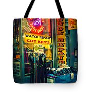 Watch Repair Shop - Keys Made Here Tote Bag