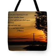 Watch The Sun Set Tote Bag