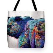 Watchful Eyes - Grizzly Bear Tote Bag by Joe  Triano