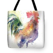 Watchful Rooster Tote Bag