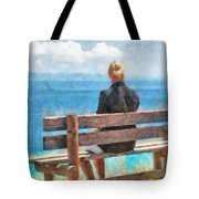 Watching And Waiting Tote Bag