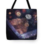 Watching Fireworks Tote Bag