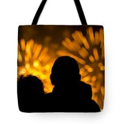 Watching Fireworks Tote Bag