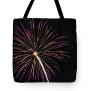 Watching Pink And Gold Explosion - Fireworks And Moon I  Tote Bag