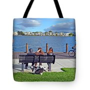 Watching The Bikes Go By At Congressman Leo Ryan's Memorial Park Tote Bag