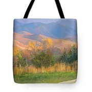 Watching The Field  Tote Bag