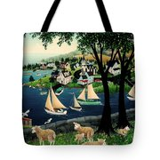 Watching The Race Tote Bag