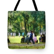 Watching The Soccer Game Tote Bag