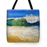Watching The Wave As Come On The Beach Tote Bag by Pamela  Meredith