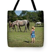 Watching The Wild Horses Tote Bag