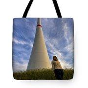 Watching Wind Power Tote Bag