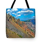 Watchman Overlook In Crater Lake National Park-oregon Tote Bag