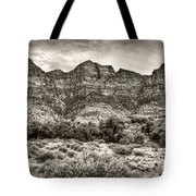 Watchman Trail In Sepia - Zion Tote Bag