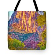 Watchman's Peak In Zion National Park-utah Tote Bag