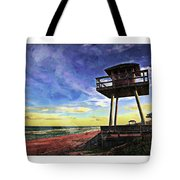 Watchtower On The Beach Tote Bag