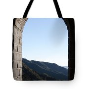 Watchtower View From The Great Wall 1082 Tote Bag