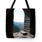 Watchtower Window View From The Great Wall 637 Tote Bag