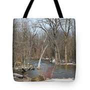 Water And Snow Tote Bag
