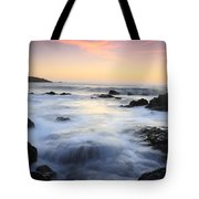 Water And The Sunset Tote Bag
