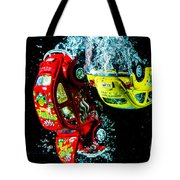 Water Beetles Tote Bag