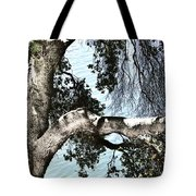 Water Beyond The Tree Tote Bag