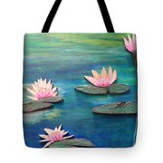 Water Blossom Tote Bag by Daniel Dubinsky