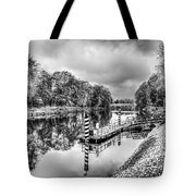 Water Bus Stop Bute Park Cardiff Mono Tote Bag