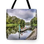 Water Bus Stop Bute Park Cardiff Tote Bag