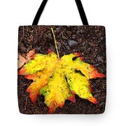 Water Colored Leaf - Autumn Tote Bag