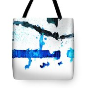 Water Dance - Blue And White Art By Sharon Cummings Tote Bag