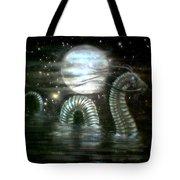 Water Dragon And Moon Tote Bag