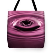 Water Drip Ripples Tote Bag