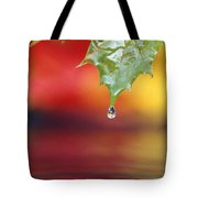Water Dripping Tote Bag