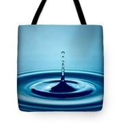 Water Drop Splash Tote Bag by Johan Swanepoel