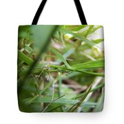 Water Droplet On Grass Blade Tote Bag