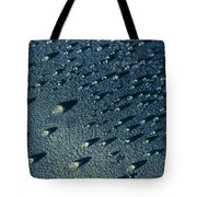 Water Droplets Close-up View  Tote Bag