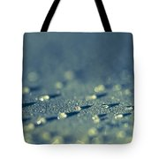 Water Droplets Close-up View On Plastic Chair Tote Bag