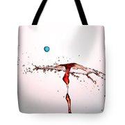 Water Droplets Collision Liquid Art 11 Tote Bag