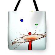 Water Droplets Collision Liquid Art 13 Tote Bag