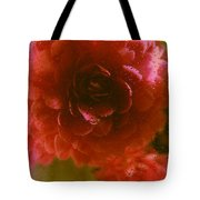 Water Droplets Beautiful Flowers Tote Bag