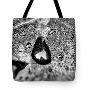 Water Droplets On A Sheet Tote Bag