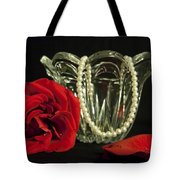Water Drops And Glass Tote Bag