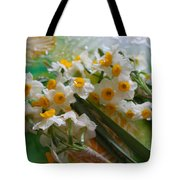 Water Drops On A Bouquet Tote Bag