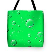 Water Drops On Green Tote Bag