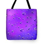 Water Drops On Purple And Blue Tote Bag