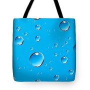 Water Drops Tote Bag