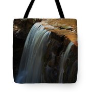 Water Fall At Seven Falls Tote Bag by Robert D  Brozek