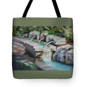 Water Fall In The Gratto Tote Bag