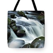 Water Flowsthrough The Mountains Tote Bag